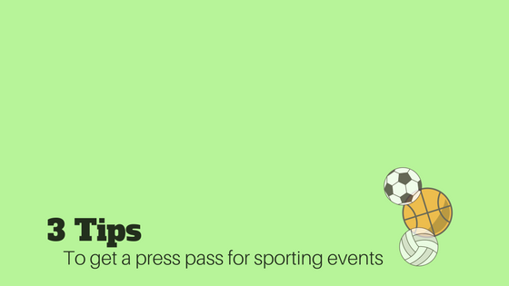 3 Tips to Get Sports Photography Credentials